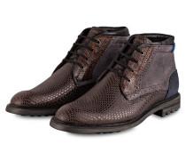 Desert-Boots - braun/ grau/ dunkelblau