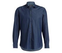 Jeanshemd Classic-Fit - dunkelblau