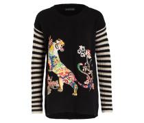 Pullover - schwarz/ creme