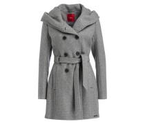 Mantel mit Kapuze - grau