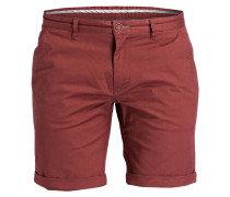 Chino-Shorts - rostrot