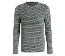 Grobstrick-Pullover - grün