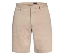 Chino-Shorts Regular Fit mit Leinen