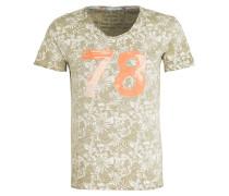T-Shirt PALM - khaki meliert