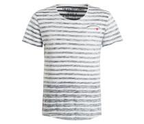 T-Shirt SQUEEZE - navy/ weiss