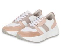 Plateau-Sneaker MATRIX - WEISS/ NUDE