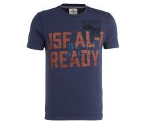T-Shirt - blau/ braun