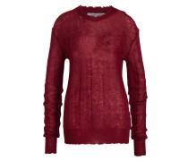 Pullover mit Mohair-Anteil - weinrot