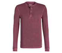 Henley-Shirt Level Five body fit - rot