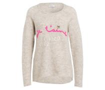 Pullover mit Alpaka-Anteil - creme/ pink