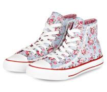 Hightop-Sneaker - hellblau/ pink