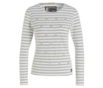Pullover - weiss/ grau meliert
