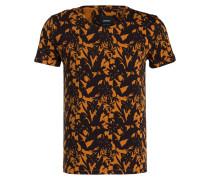 T-Shirt J-FLOR-R - orange/ schwarz
