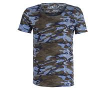 T-Shirt CELEBRATE - blau/ olive/ navy