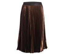 Faltenrock aus Seide - kupfer