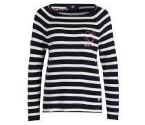 Pullover BERRIT - marine/ weiss gestreift