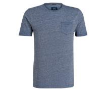 T-Shirt - marine meliert
