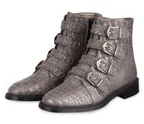 Boots - GRAU METALLIC/ SCHWARZ