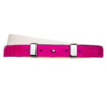 Ledergürtel - pink