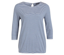 Shirt mit 3/4-Arm - blau/ weiss gestreift