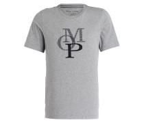 Lounge-Shirt - grau meliert