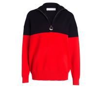 Pullover - rot/ dunkelblau
