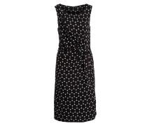 Kleid mit Raffung - schwarz