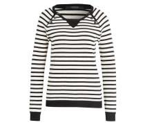 Pullover - creme/ schwarz gestreift