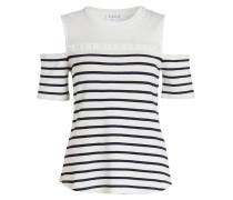 T-Shirt TEWIS - ecru/ schwarz