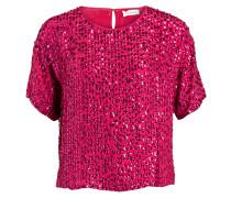 Blusentop mit Paillettenbesatz - pink