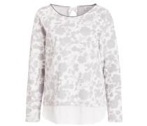 Sweatshirt - grau/ wollweiss