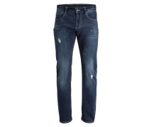Destroyed-Jeans Slim-Fit - 1500 blue