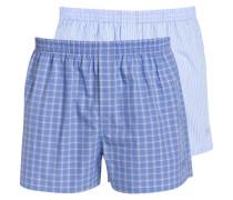 2er-Pack Web-Boxershorts - blau