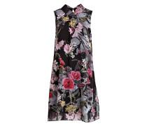 Kleid - schwarz/ pink/ grau