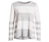 Pullover mit Cashmere-Anteil - grau/ weiss