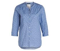 Bluse - blau/ ecru