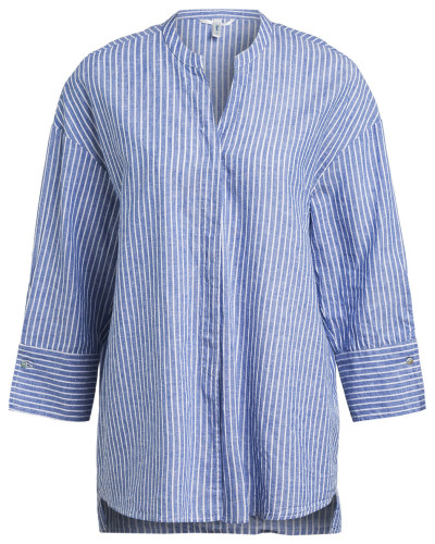 Oversized-Bluse OPPI mit Leinen