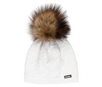 Mütze YVA LUX mit Kunstpelzbommel