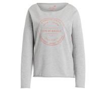Sweatshirt - grau meliert