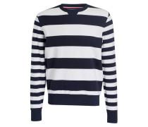 Sweatshirt RONAN - navy/ weiss gestreift