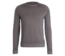 Pullover ALFIO-R aus Merinowolle - grau