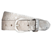 Ledergürtel - silber