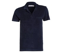 Frottee-Poloshirt TERRY - navy