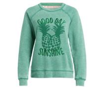Sweatshirt - grün meliert