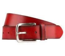 Ledergürtel - rot