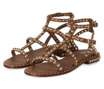 Sandalen PRECIOUS mit Nietenbesatz - CAMEL