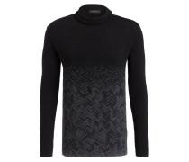 Pullover mit Stehkragen und Schurwoll-Anteil