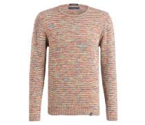 Pullover - weiss/ grün/ orange