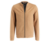 Woll-Blouson - toffee
