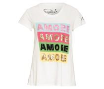 T-Shirt mit Pailettenbesatz
